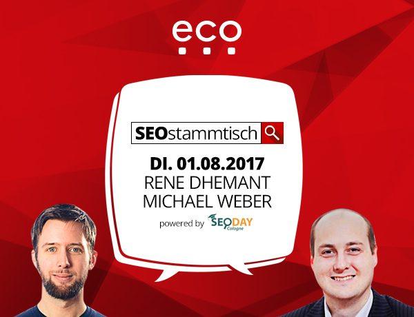 SEO Stammtisch Köln am 1.8.2017 bei ECO